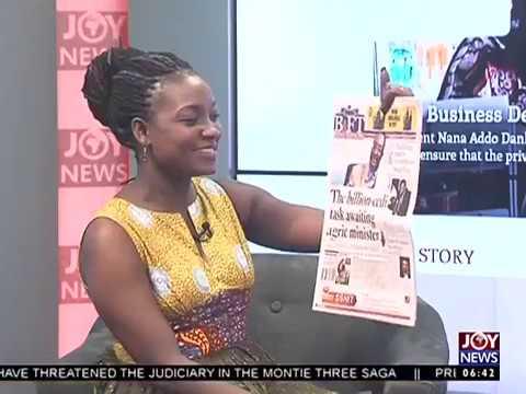 AM Show Newspaper Headlines on Joy News (13-1-17)