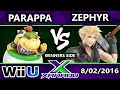 S@X 161 - Parappa (Bowser Jr.) Vs. Zephyr (Cloud) SSB4 Tournament - Smash Wii U - Smash 4