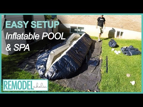 Small Above Ground Pool | Inflatable Pool and Spa Easy Setup | Remodelaholic