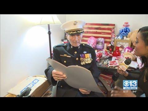 Stockton Marine, Major Bill White, Turns 105