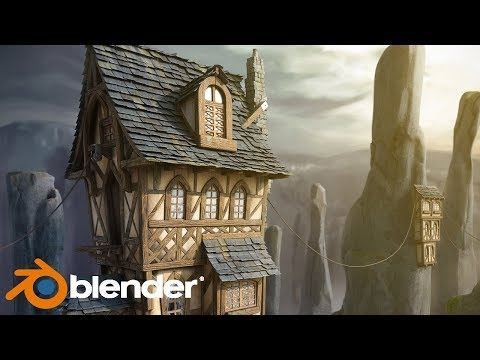 Blender 3D - Stylized Environment Modeling, Texture, and Rendering