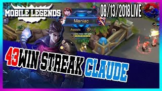 Claude Tips & Build Live streaming  / North America Marksman Player / Mobile Legends