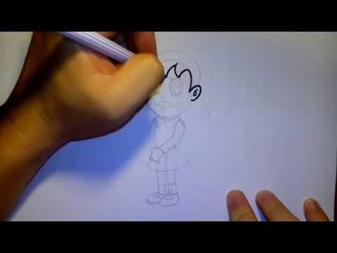 ชิซูกะ จาก การ์ตูน โดราเอม่อน by วาดการ์ตูนกันเถอะ สอนวาดรูป การ์ตูน