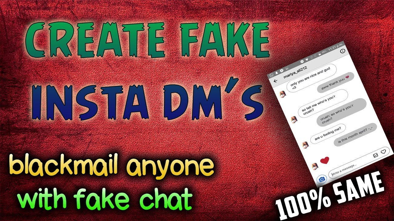 Create fake instagram chat