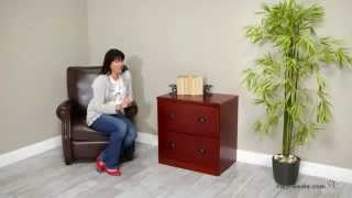 Valona Custom Two Drawer Lateral Filing Cabinet - Cherry - Product Review Video