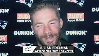 Julian Edelman Goofing Off During Patriots Postgame Press Conference
