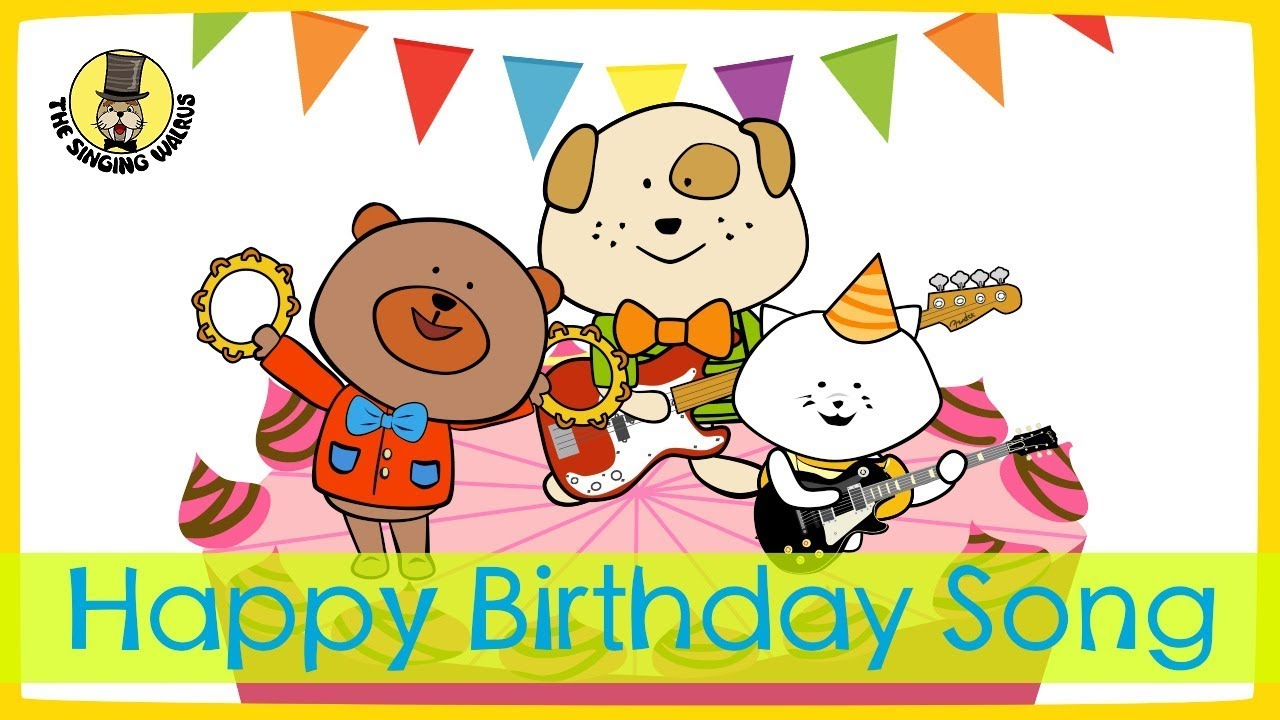 Happy Birthday Song The Singing Walrus Youtube
