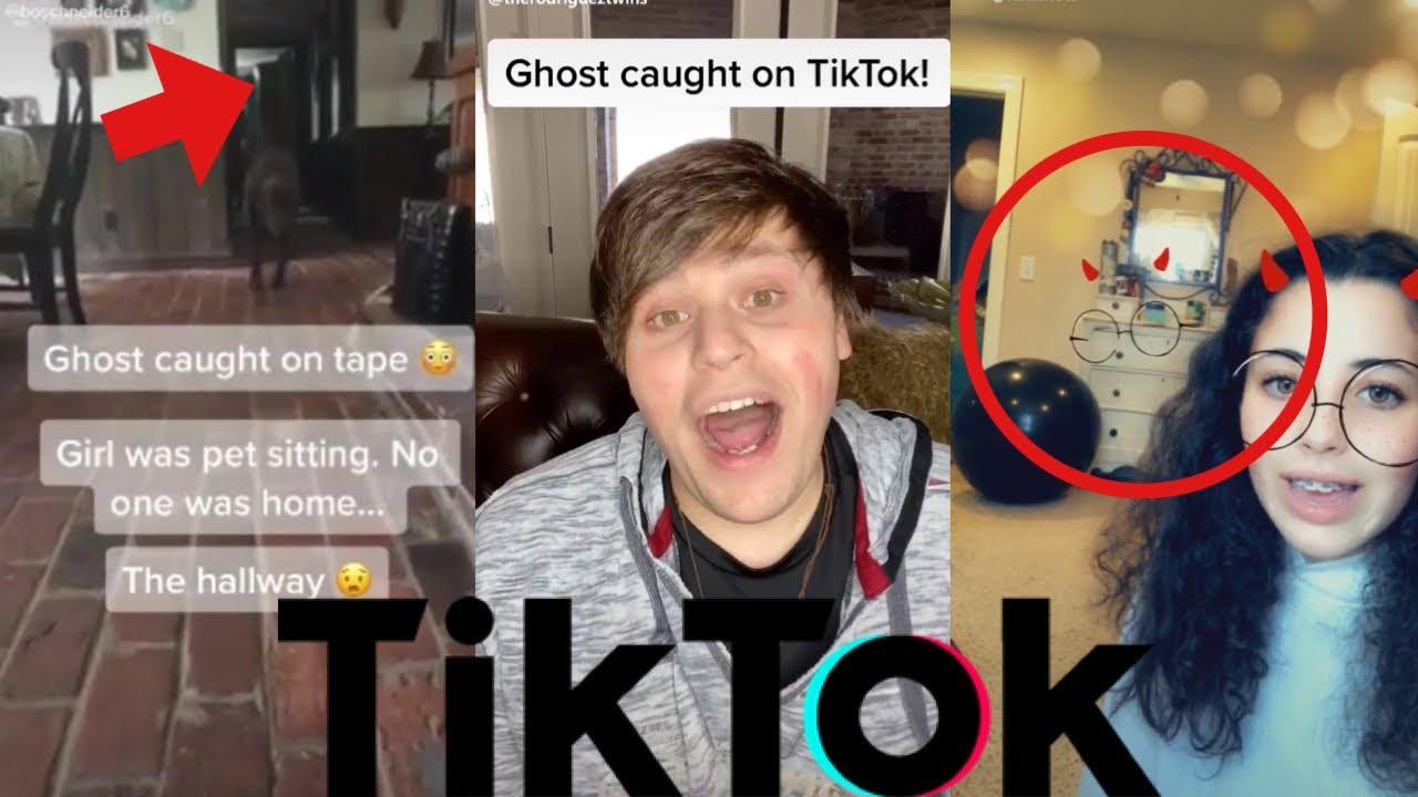 scary ghost caught tiktok youtube