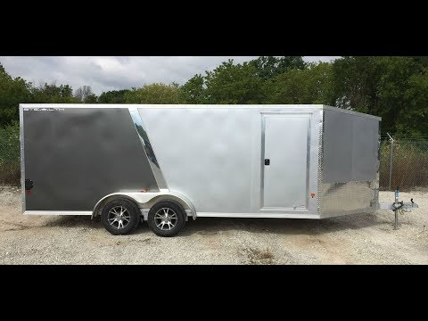 CargoPro STEALTH 7x18 3 Place Inline Aluminum Snowmobile Trailer