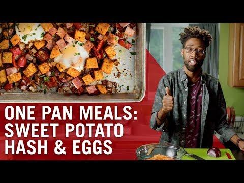 Sheet Pan Baked Eggs & Sweet Potato Hash   Flavor Makers Series   McCormick