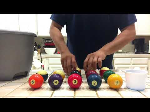 How to clean and shine billiard or pool balls