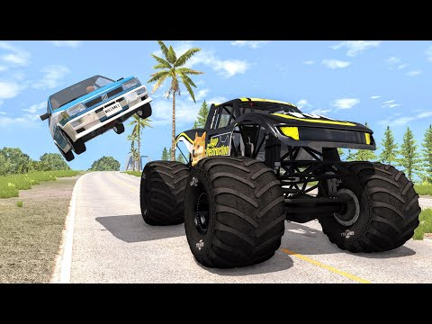 Crazy Police Chases #80 - BeamNG Drive Crashes