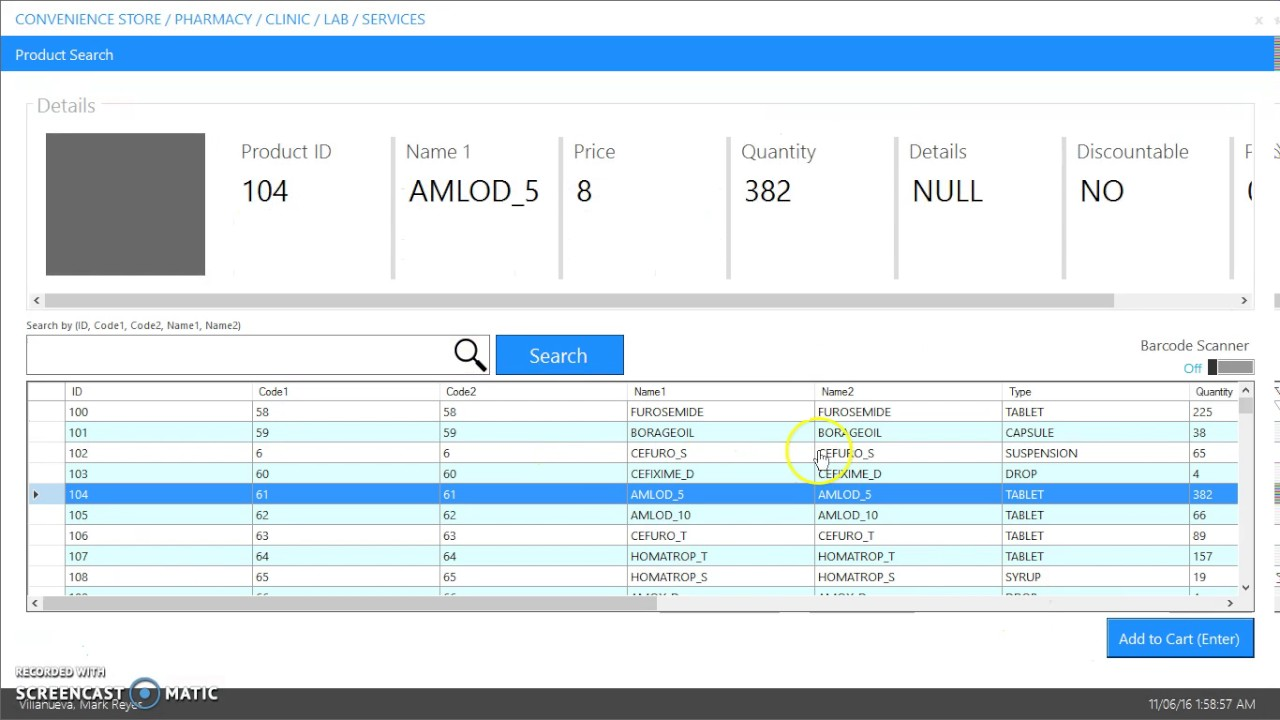 POS with Inventory System (Barcode Scanner Ready)