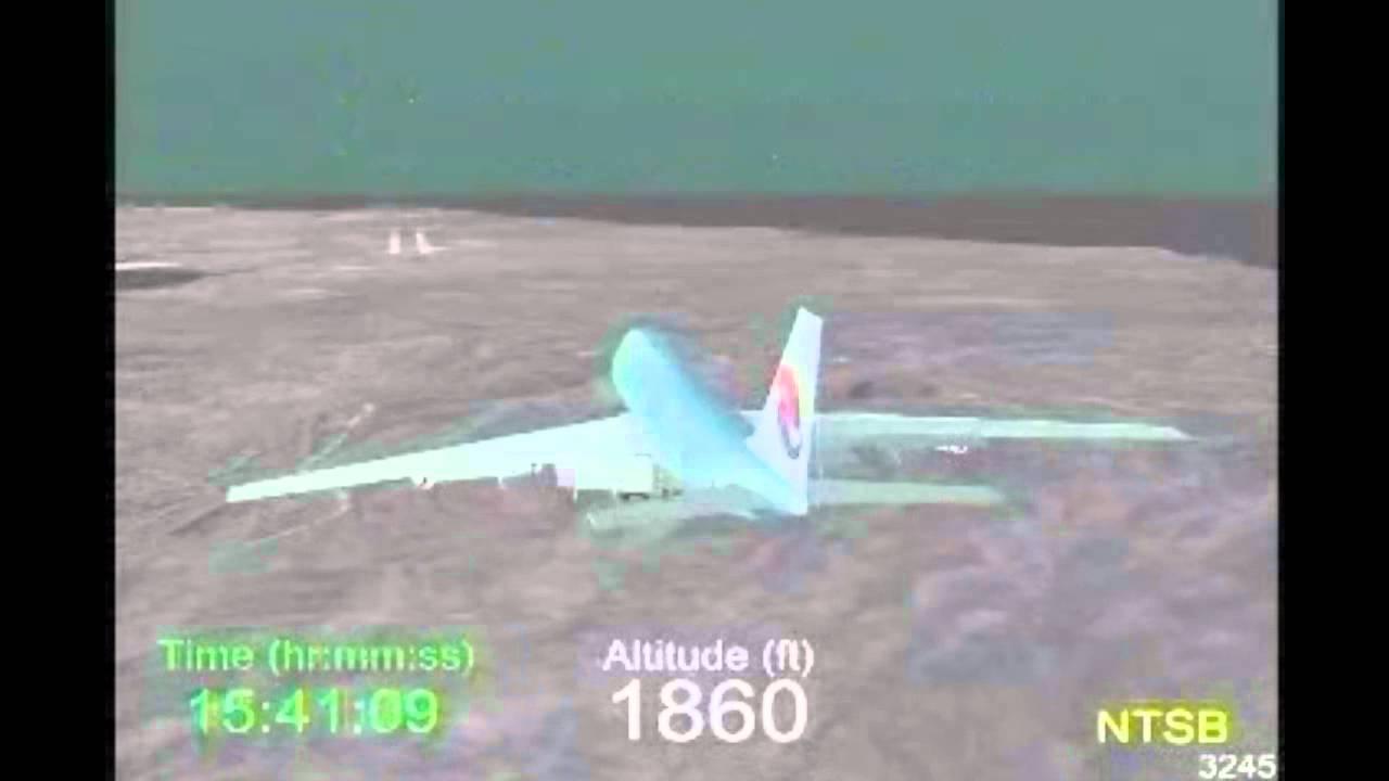 Ntsb >> Accident of Korean Air Flight 801 ( KAL801 ) - detailed crash simulation of NTSB - YouTube