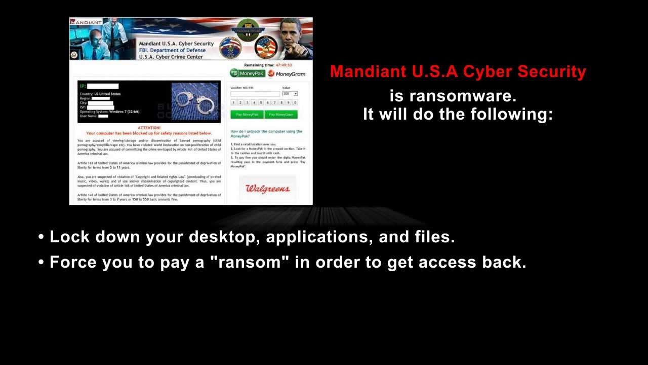 How to get rid of mandiant cyber security virus