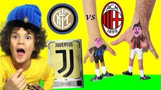 INTER vs MILAN (Finger Footoball Challenge con Scudetto Juventus)