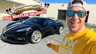 FIRST STRAIGHT PIPED C8 CORVETTE SOUNDS INSANE!!! Ft. My Hellcat is BACK!