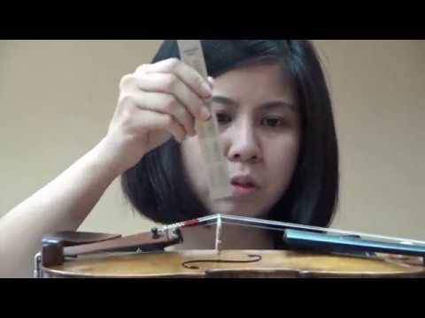 Violin Bridge Position 3, Malaysia Sound Workshop part 3
