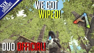 WE GOT WIPED! | SUPER HIDDEN BASE BUILD! | Duo Official PvP - Ep. 3 - Ark: Survival Evolved