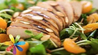 Легкий весенний салат со шпинатом и персиком - Все буде добре-Выпуск 573-Всё будет хорошо 30.03.15