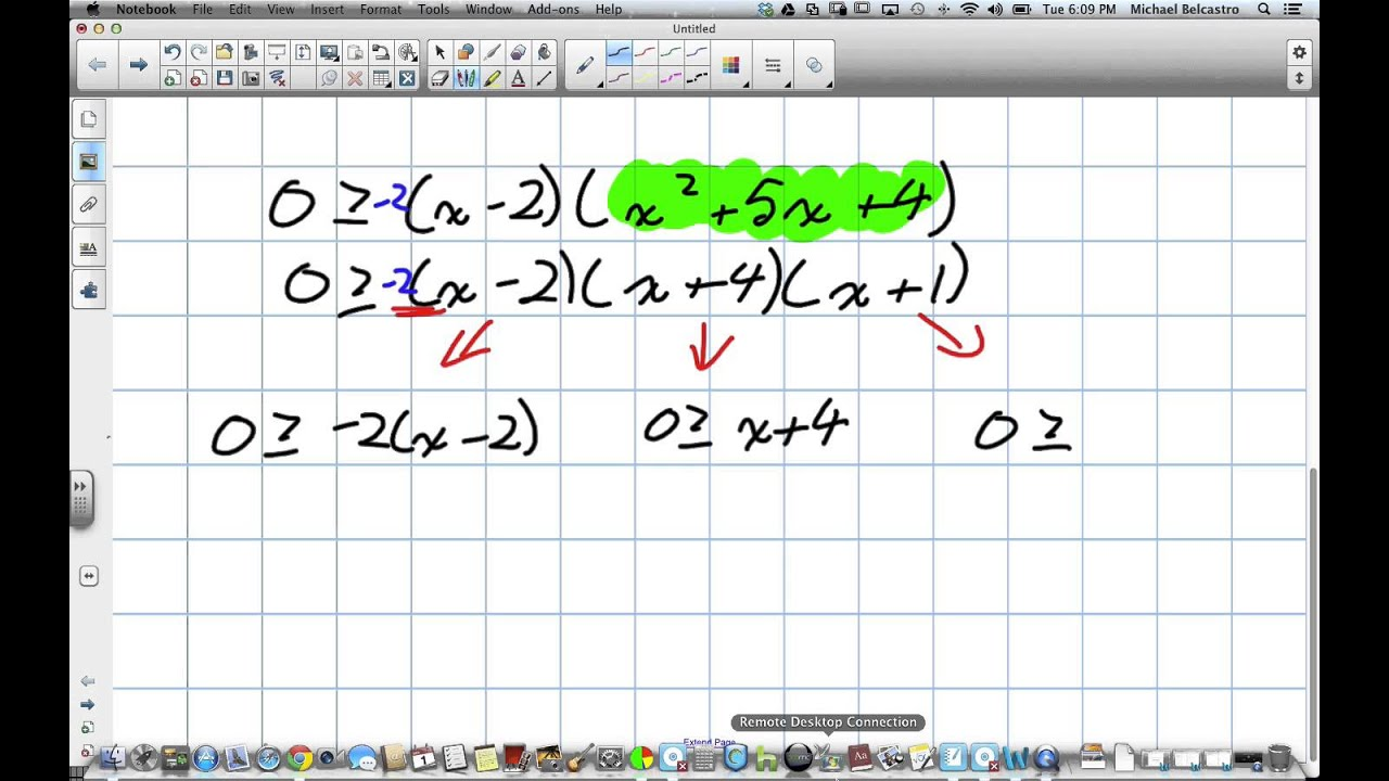 Solving Polynomial Inequalities, Using Different Cases Grade 12 ...