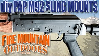 diy zastava pap m92 ak 47 pistol sling mount options that that you can do at home