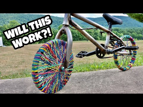 Rubber Band Bike Tires! Can I Ride IT?!