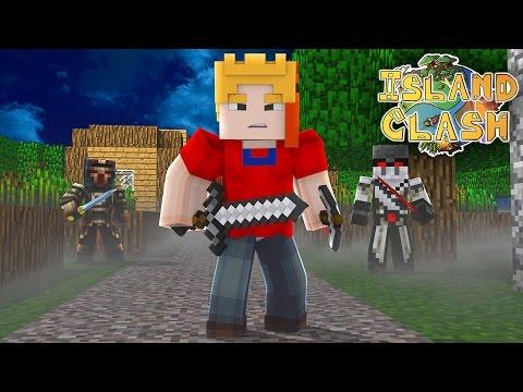 CLASH OF CLANS IN MINECRAFT! Island clash adventures! #1