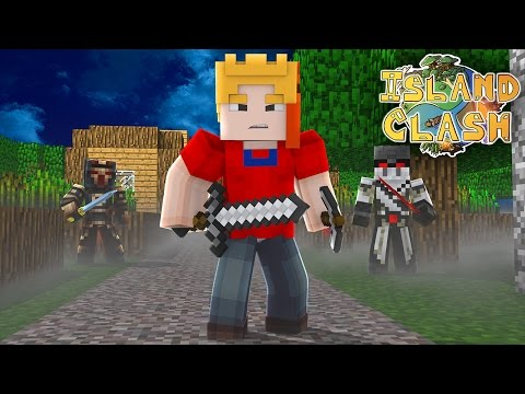 CLASH OF CLANS IN MINECRAFT! Island clash adventures! #1