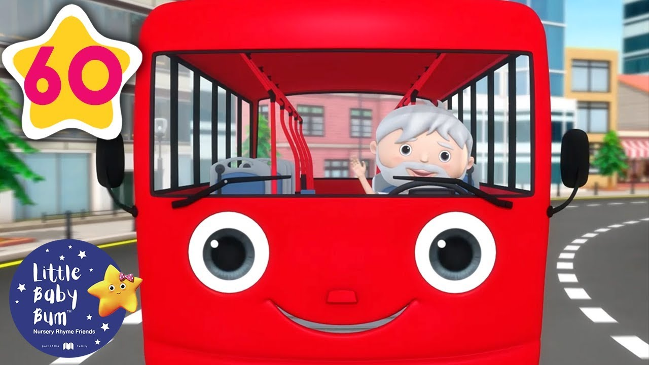 Color Bus Song | +60 Minutes of Nursery Rhymes | Learn ...