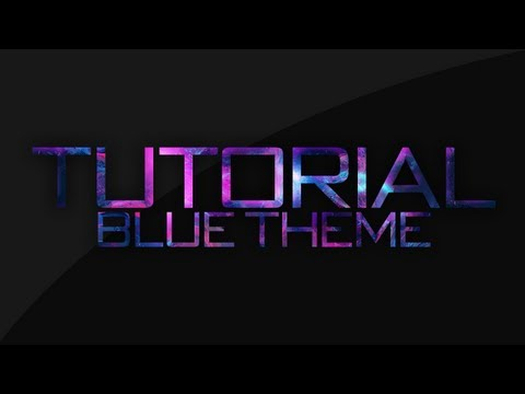 [VFX] - Blue Theme Youtube Background Tutorial / Photoshop C