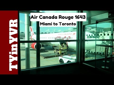 Trip Report Air Canada Rouge 1643 Miami To Toronto 763 (MIA To YYZ)