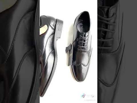 Giày buộc dây nam da thật - Geleli Bảo hành 12 tháng