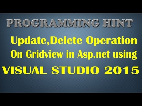 How To Display,Update,Delete Row On Gridview In Asp .net With Mysql Using Gridview Boundfield ?