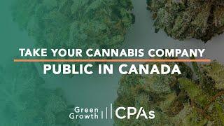 Take Your Cannabis Company Public in Canada
