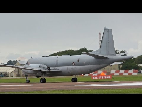 Breguet Dassault ATL-2 Atlantique 2 French NAVY departure on Monday RIAT 2012 AirShow