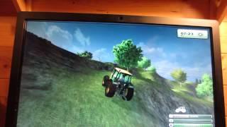4 x 4 avec un tracteur dans un jeu