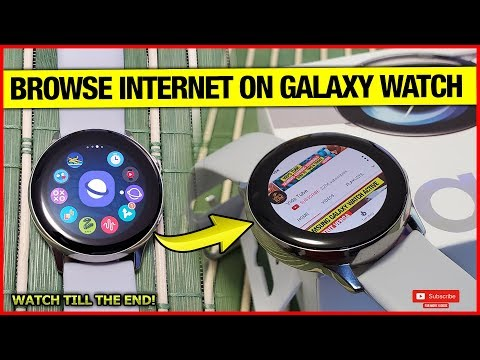 Browse Internet On Samsung Galaxy Watch Active