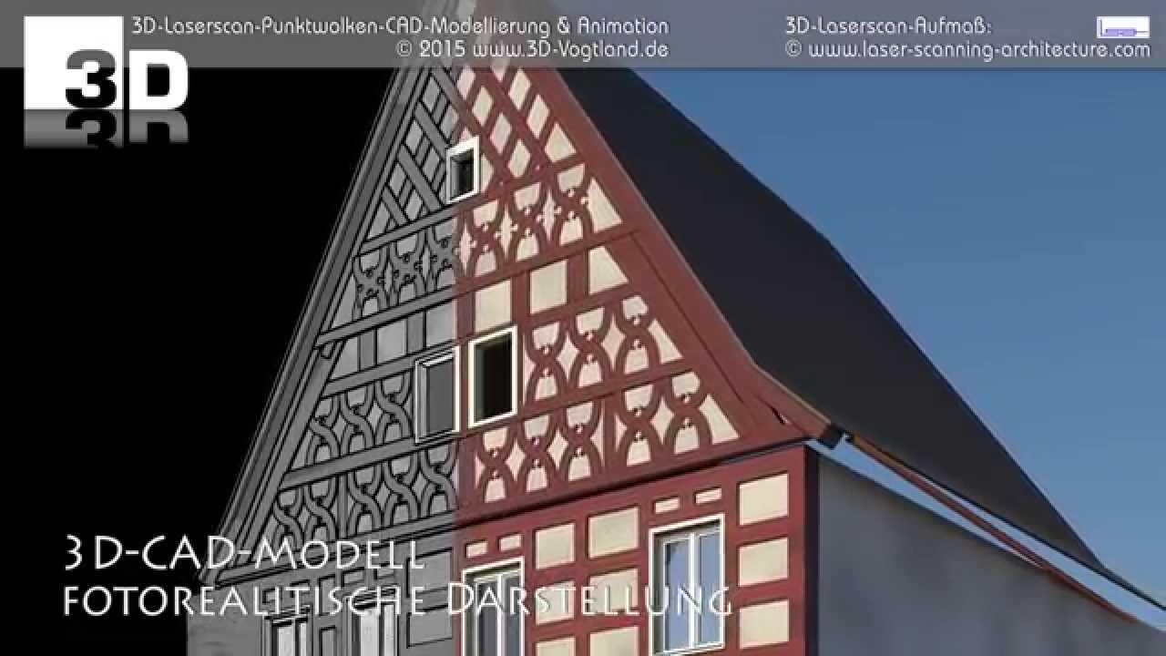 Fachwerk 3d cad modellierung aus punktwolken youtube for 3d fachwerk