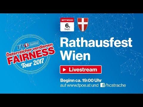 Komplettaufzeichnung Fest im Wiener Rathaus 2017
