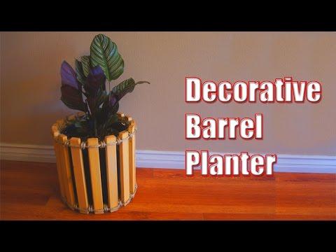 Decorative Barrel Planter