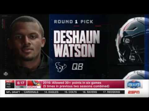 DESHAUN WATSON- 2017 NFL 12th Overall Pick (Houston Texans)
