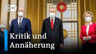 EU-Spitzen treffen türkischen Präsidenten Recep Tayyip Erdogan in Ankara | DW Nachrichten