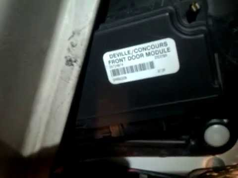 Test deville door window control module youtube for 01333 door control module