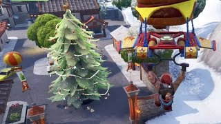 DANCE IN FRONT OF DIFFERENT HOLIDAY TREES - Day 9 (14 Days of Fortnite)