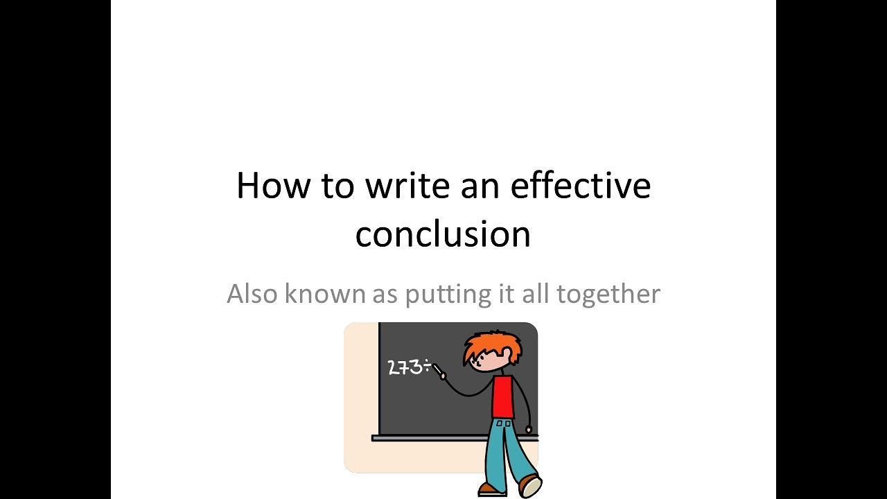 how to make agood conclusion