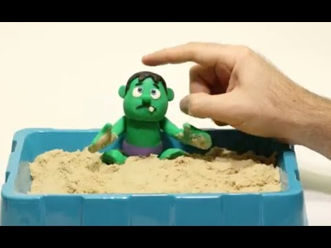 Baby Hulk Superhero Stop motion * Play Doh and Cartoons For Kids 馃挄 Superhero Babies
