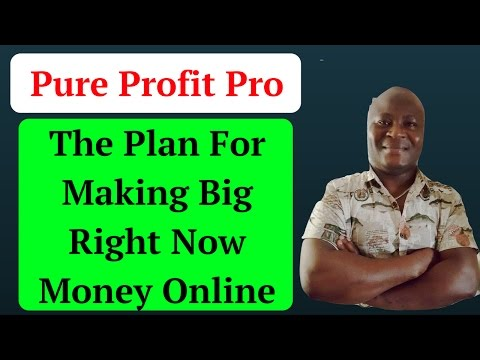 Pure Profit Pro - The Plan For Making Big Right Now Money Online