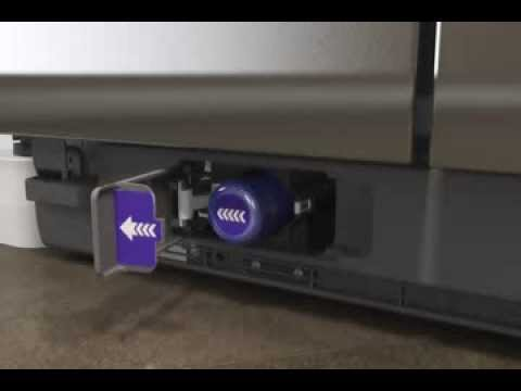 how to replace a whirlpool filter 1 in the refrigerator grille -