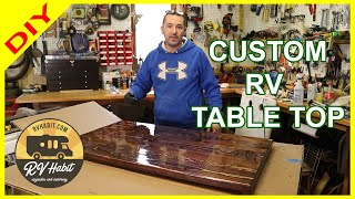 How To Build A Custom Wood RV Dinette Table Top - DIY – 2x6 Easy Project